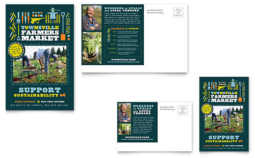 Farmers Market Postcard Template
