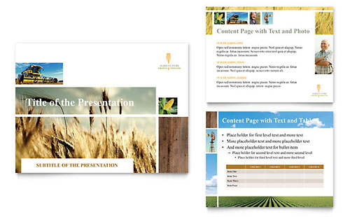 Farming & Agriculture PowerPoint Template
