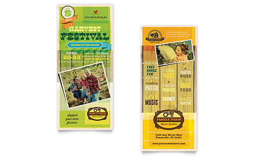 Harvest Festival - Sample Rack Card Template
