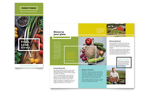 Organic Food Print Design Brochure Template