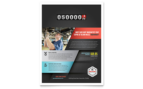 Auto Mechanic Flyer Template