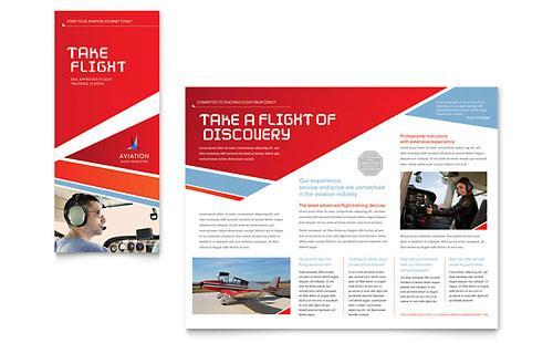 Aviation Flight Instructor Brochure Template