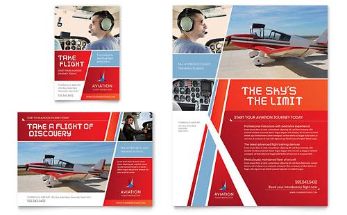 Aviation Flight Instructor Flyer & Ad Template