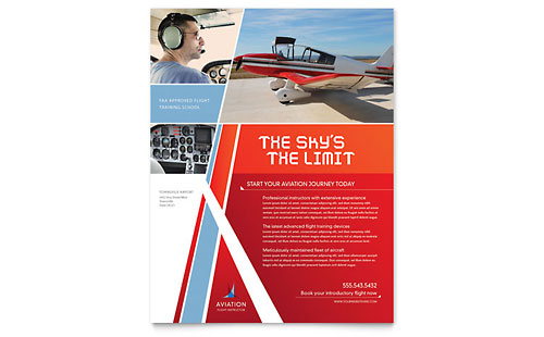 Aviation Flight Instructor Flyer Template