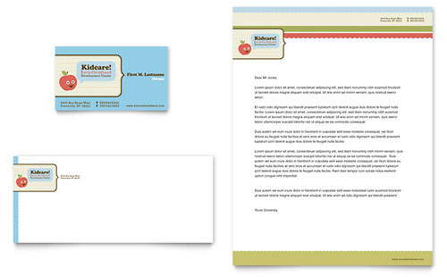 Child Development School - Business Card & Letterhead Template