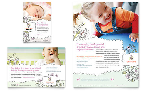 Babysitting & Daycare Flyer & Ad Template