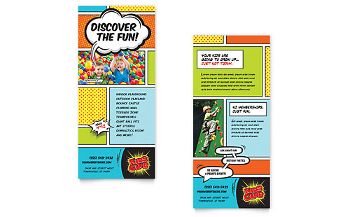 Kids Club Rack Card Template