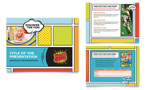 Kids Club PowerPoint Presentation Template