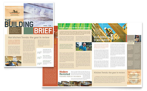 Home Builders & Construction Newsletter Template