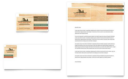 Home Builders & Construction Business Card & Letterhead Template