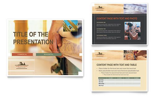 Home Builders & Construction PowerPoint Presentation Template