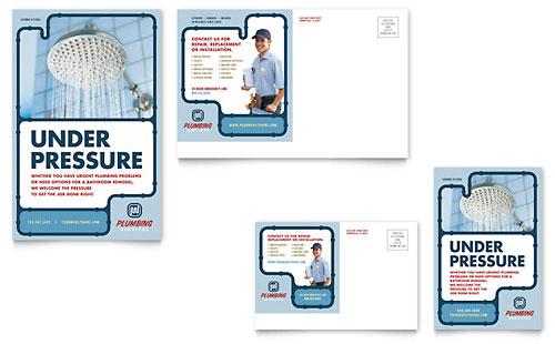 Plumbing Services Postcard Template
