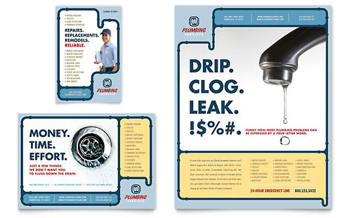 Plumbing Services Flyer & Ad Template