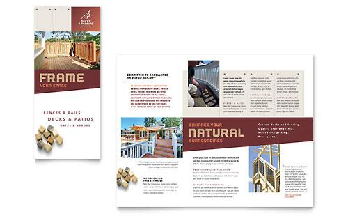 Decks & Fencing Brochure Template
