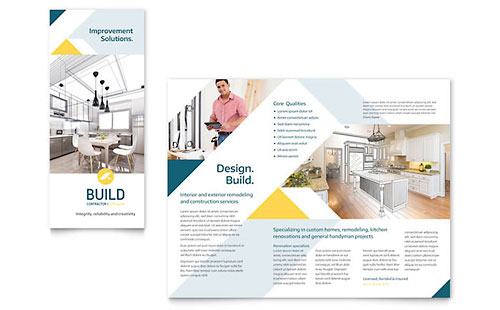 Contractor Pages Brochure Template