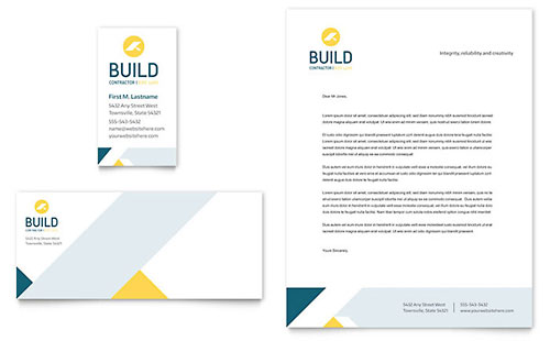 Contractor - Business Card & Letterhead Template
