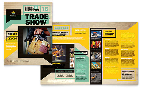 Builders Trade Show Print Design Brochure Template