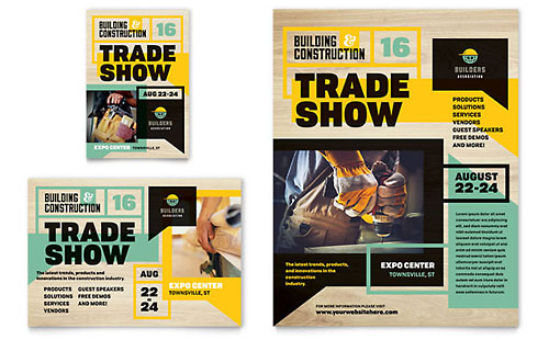 Builders Trade Show Print Ad Template