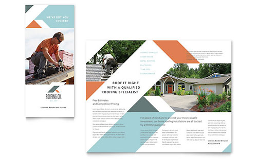 Roofing Company Brochure Template - Pages