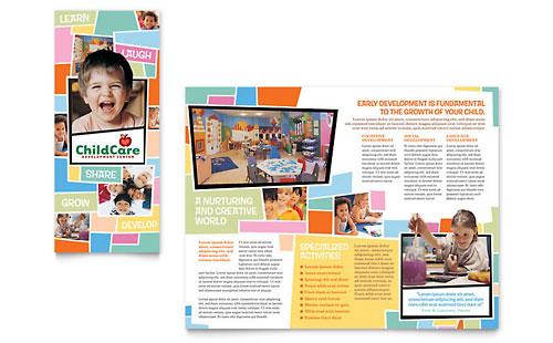 Preschool Kids & Day Care Brochure Template