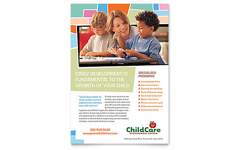 Preschool Kids & Day Care Flyer Template