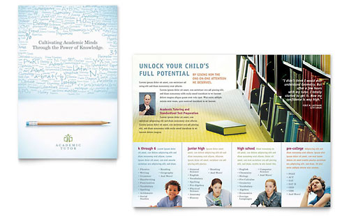 Academic Tutor & School Brochure Template