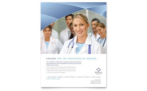 Nursing School Hospital - Flyer Template