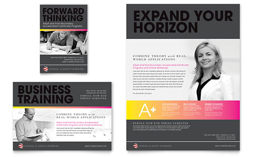 Adult Education & Business School Flyer & Ad Template