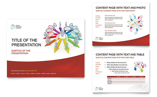 Language Learning PowerPoint Presentation Template