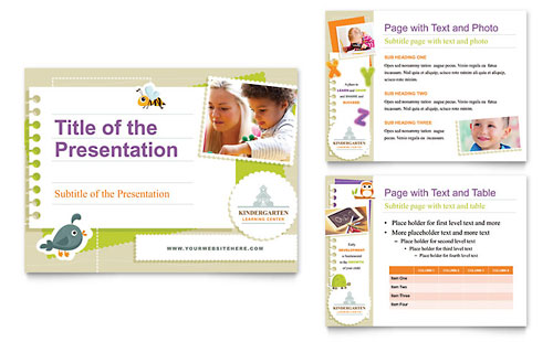 Kindergarten PowerPoint Presentation Template