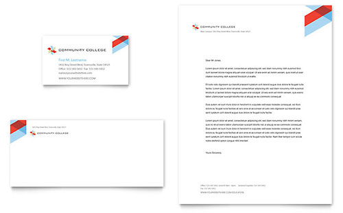 Community College Business Card & Letterhead Template
