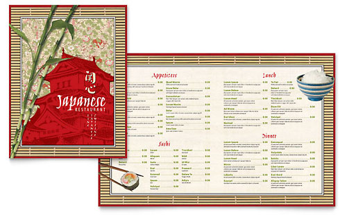 Japanese Restaurant - Menu Template