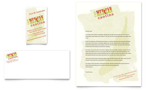 Mexican Restaurant Business Card & Letterhead Template