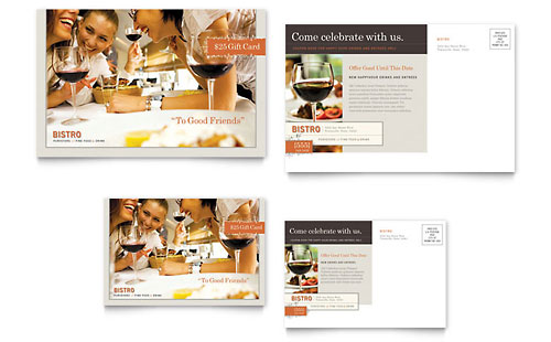 Bistro & Bar Postcard Template