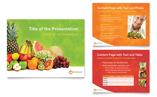 Nutritionist & Dietitian PowerPoint Presentation Template