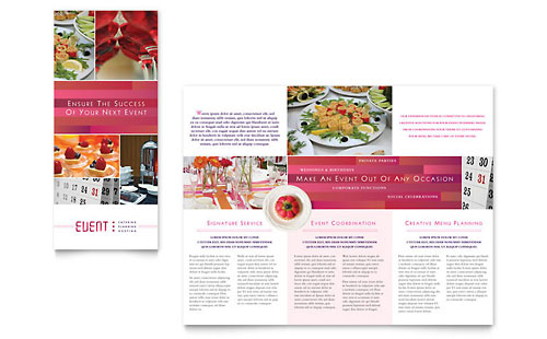 Corporate Event Planner & Caterer Tri Fold Brochure Template