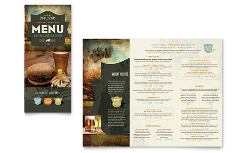 Brewery & Brew Pub Take-out Brochure Template