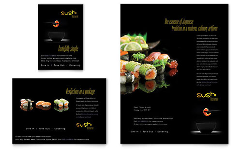 Sushi Restaurant Flyer & Ad Template
