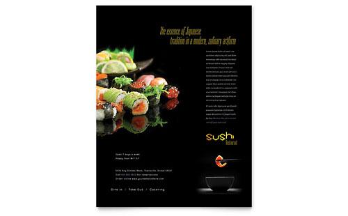 Sushi Restaurant Flyer Template