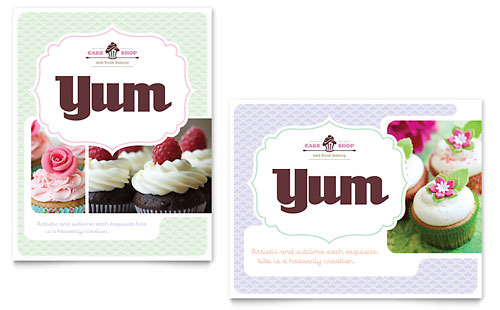 Bakery & Cupcake Shop Poster Template
