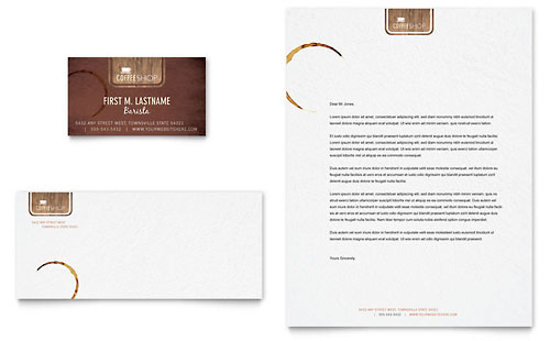 Coffee Shop Business Card & Letterhead Template