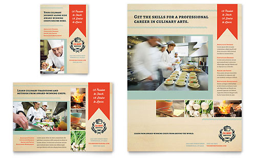 Culinary School Flyer & Ad Template