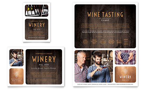Winery - Flyer & Ad Template
