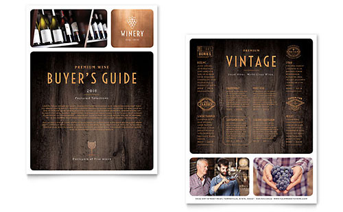Winery Datasheet Template