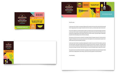 Mexican Restaurant - Business Card & Letterhead Template