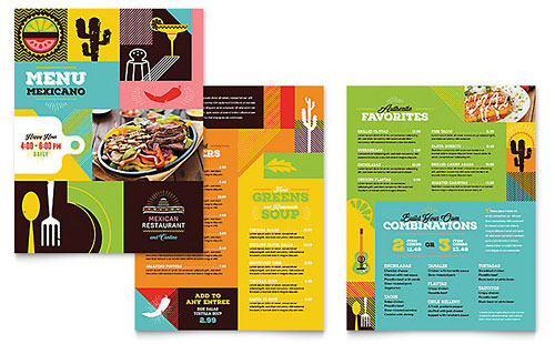 Mexican Restaurant - Print Design Menu Template
