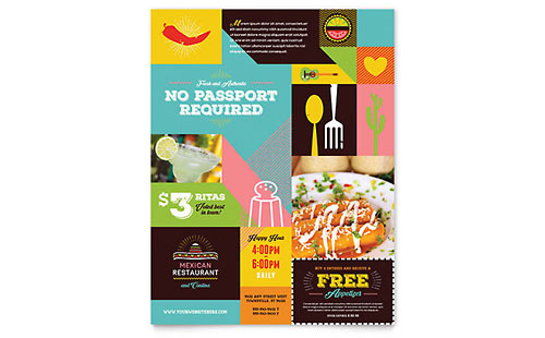 Mexican Restaurant - Leaflet Template
