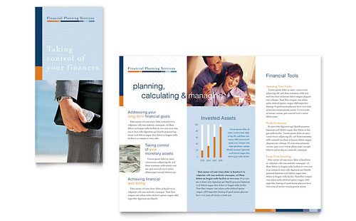 Financial Planning & Consulting Brochure Template