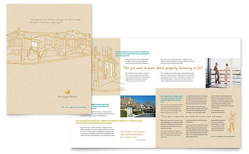 Mortgage Broker Brochure Template