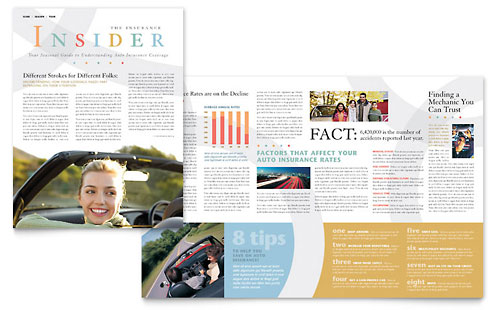 Car Insurance Company - Newsletter Template